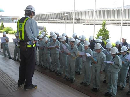 通年型スケートリンク建設工事 現場代理人からの説明
