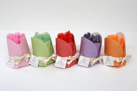 富山のチューリップの香りを包む