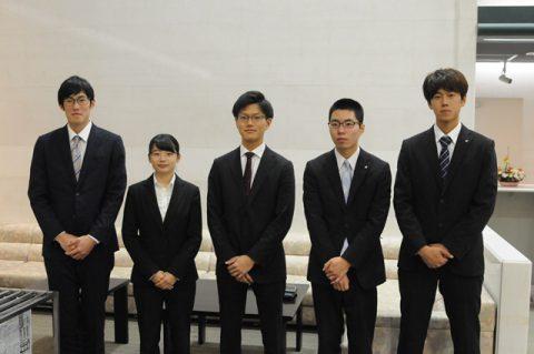岩手県選手団結団式 左から 細田・菊地・高橋・林崎・粟野選手
