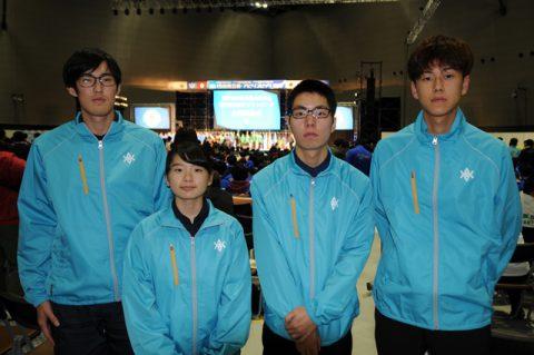 水沢キャンパス 左から細田・菊地・林崎・粟野選手