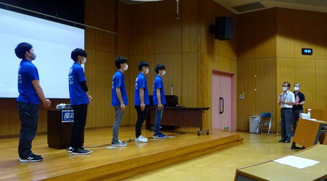 若年者ものづくり競技大会の壮行式を行いました!